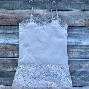 White House Black market cream lace camisole